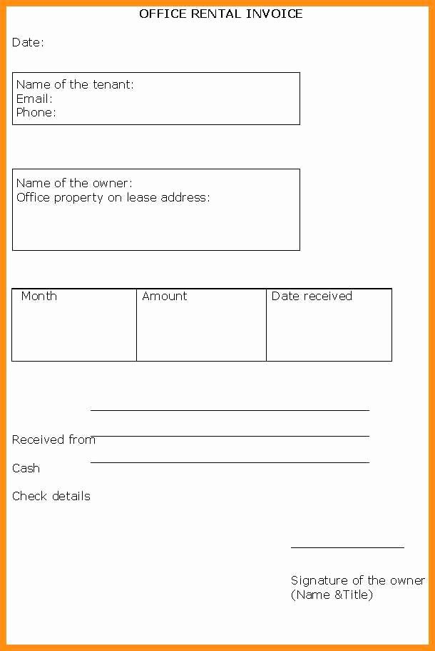 Rental Invoice Template Excel Best Of 8 Invoice format Excel