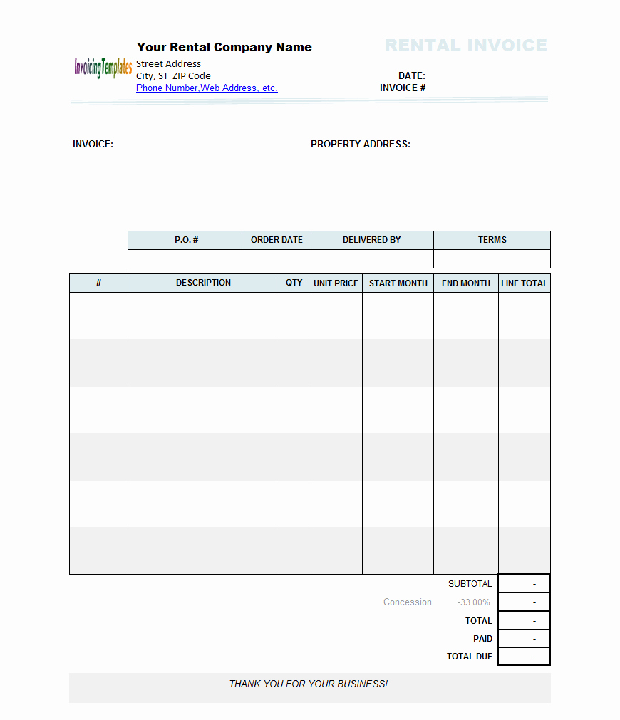 Rental Invoice Template Excel Best Of Bill Statement Template Sanusmentis Rental Invoice Excel