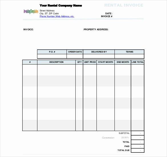 Rental Invoice Template Excel Luxury 60 Microsoft Invoice Templates Pdf Doc Excel
