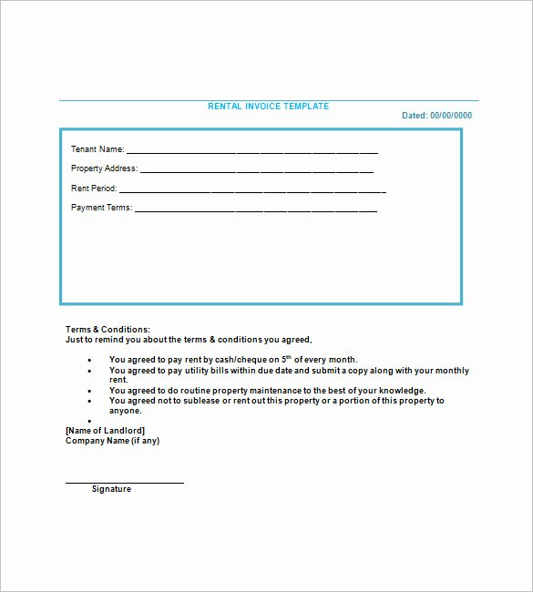 Rental Invoice Template Excel Unique Lease Invoice Template 14 Free Word Excel Pdf format