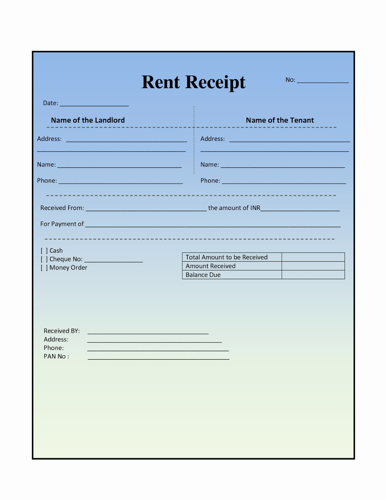 Rental Invoice Template Excel Unique Sample Rent Receipt Template New House Rental Invoice