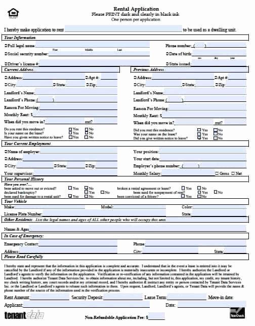 Renters Application form Template Luxury Free Kansas Rental Application form – Pdf Template