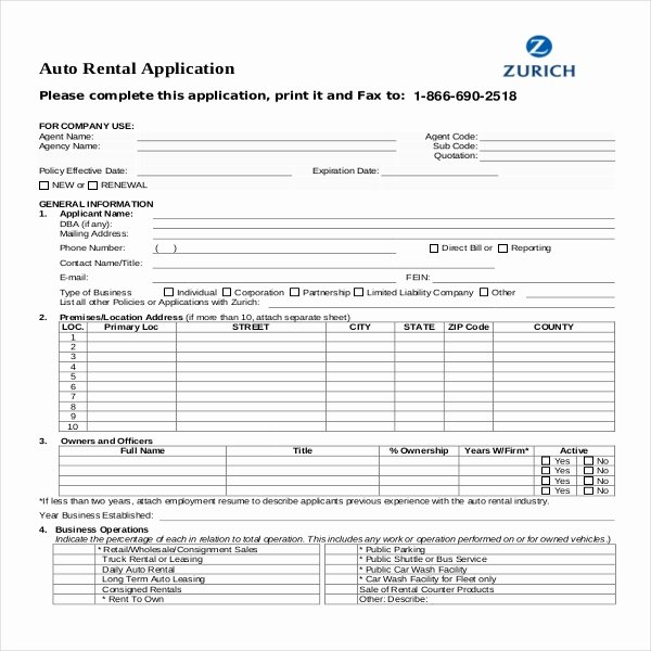 Renters Application form Template New Rental Application Template – 12 Free Word Pdf Documents