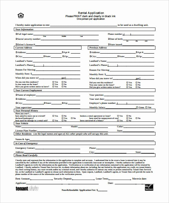 Renters Application form Template Unique Rental Application – 18 Free Word Pdf Documents Download
