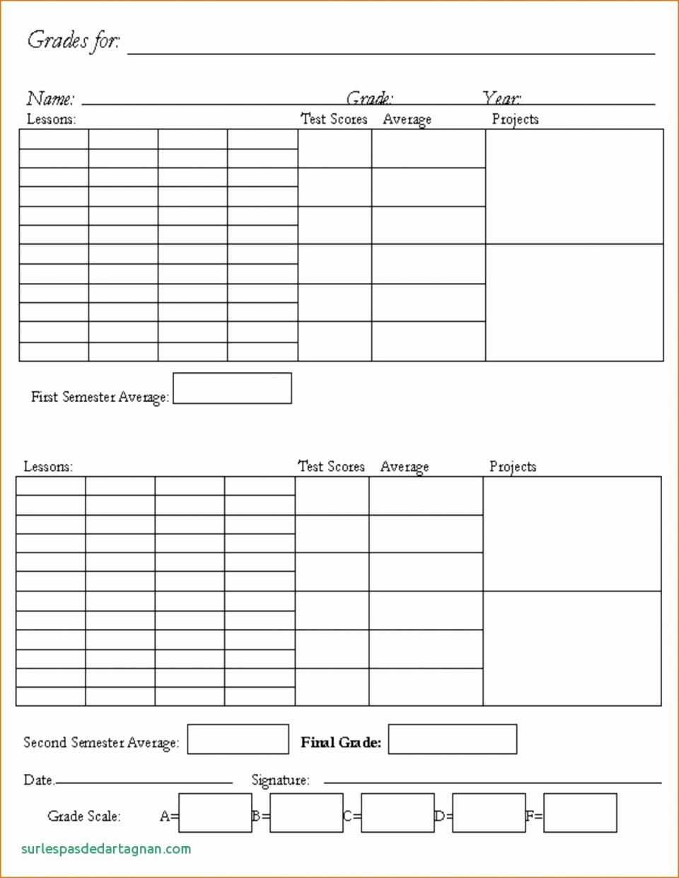 Report Card Template Pdf Fresh Homeschool Report Card Template Middle School Best Samples