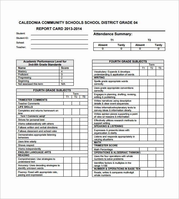 Report Card Template Pdf Inspirational 26 Progress Report Card Templates Google Doc Pdf Psd