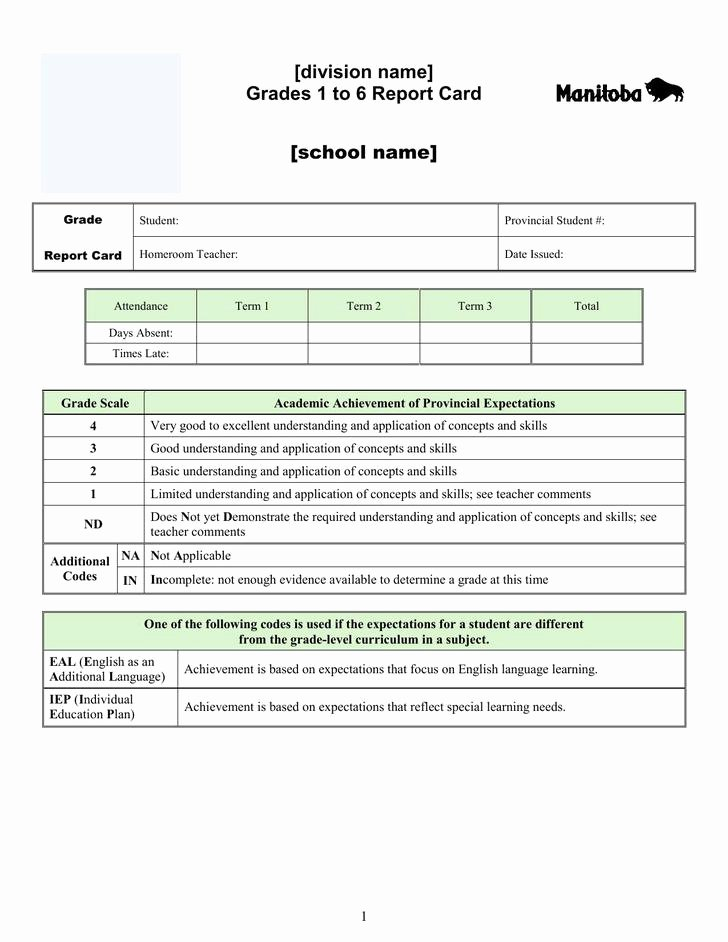 Report Card Template Pdf Lovely 20 Report Card Template Free Download