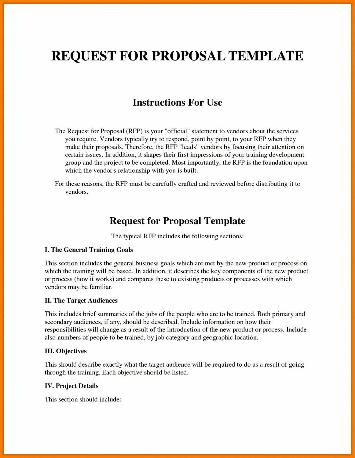 Request for Bid Template Elegant Sample Rfp Response Template Information Technology Example