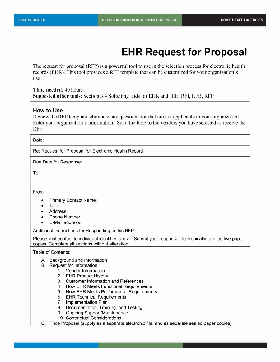 Request for Bid Template Inspirational 40 Best Request for Proposal Templates & Examples Rpf