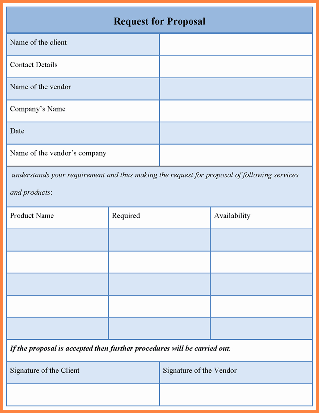 Request for Proposal Template Word Awesome 10 Rfp Template Word