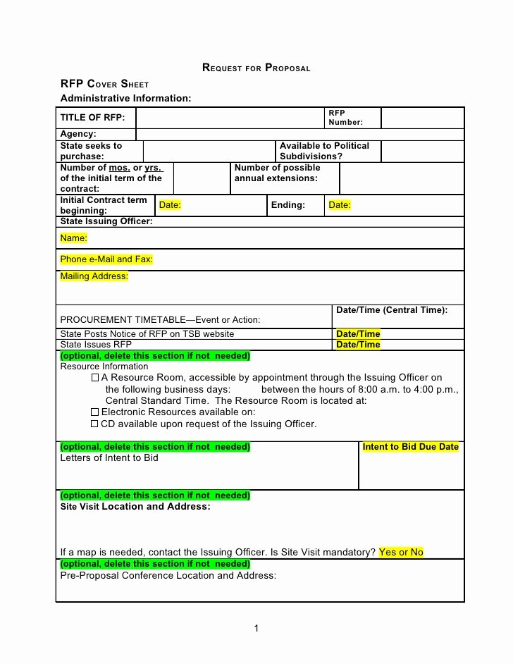 Request for Proposal Template Word Best Of Rfp Template Word Document