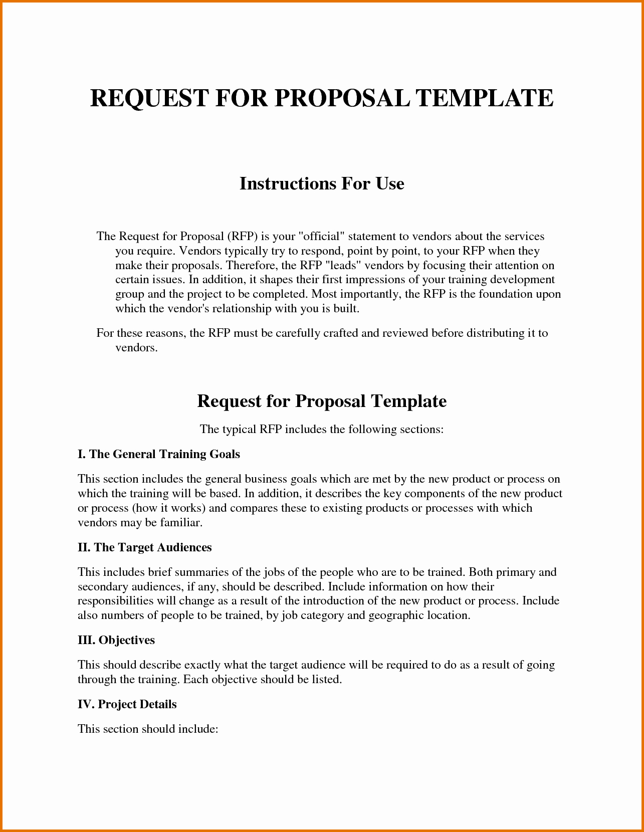 Request for Proposal Template Word Inspirational Request for Proposal Template Wordreference Letters Words