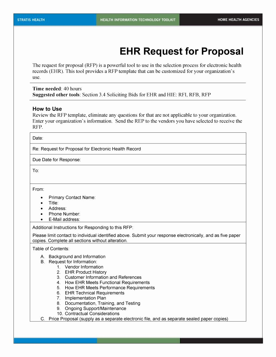 Request for Proposal Template Word New 25 Of Sample Rfp Template