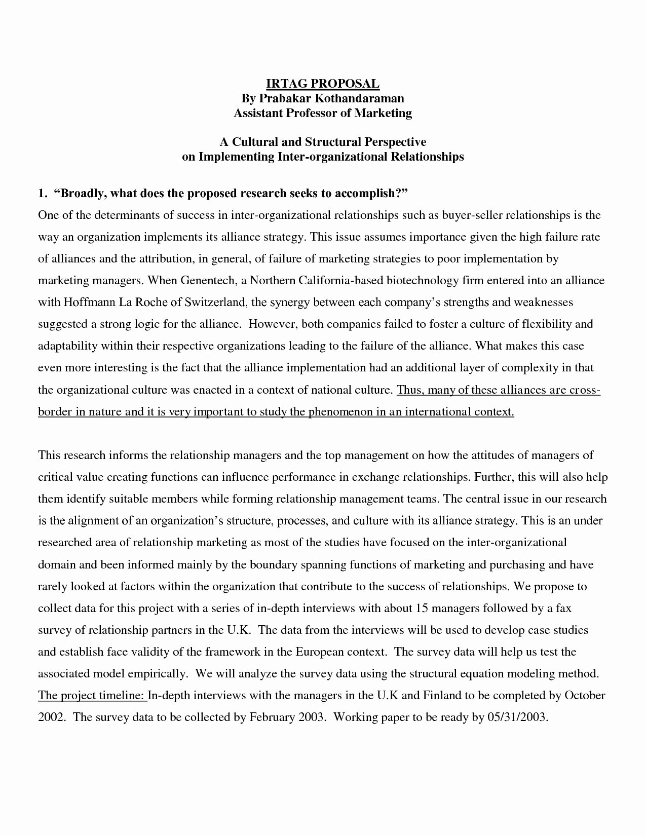 Research Paper Proposal Template Awesome Example Abstract for Research Paper Bamboodownunder