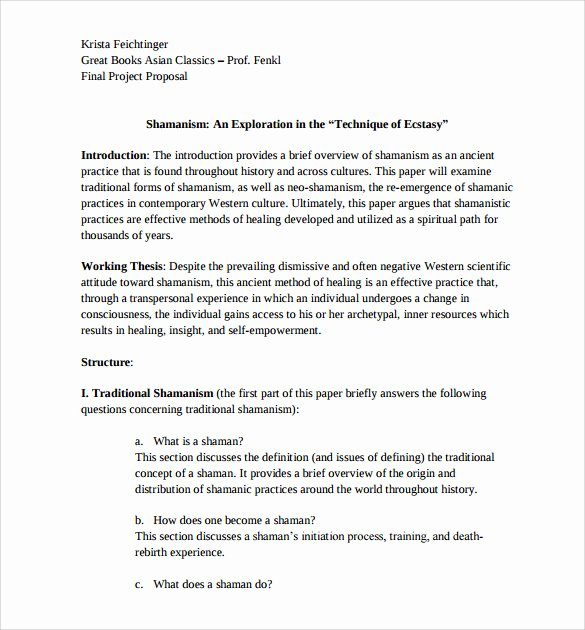 Research Paper Proposal Template Beautiful 13 Research Paper Proposal Templates to Download