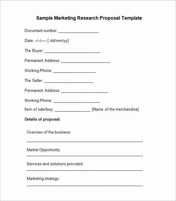 Research Paper Proposal Template Elegant 10 Sample Research Proposal Templates
