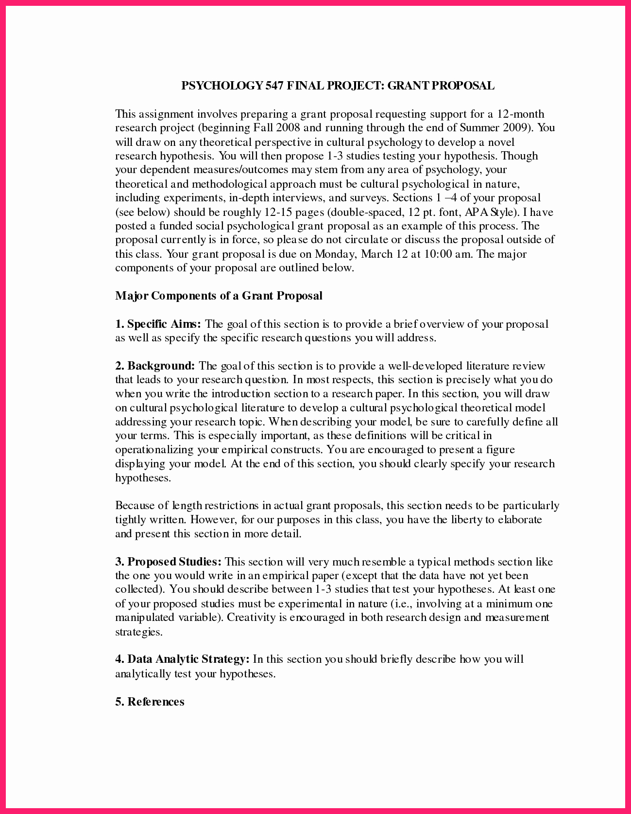 Research Paper Proposal Template Fresh Apa Research Paper Template