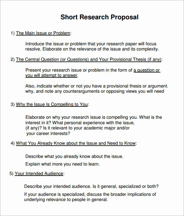 Research Paper Proposal Template Inspirational Research Paper Proposal