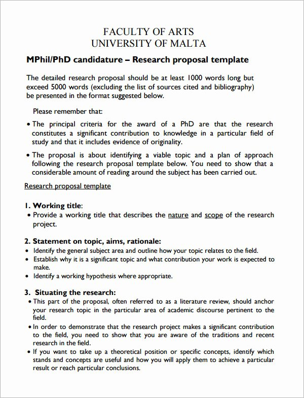 Research Paper Proposal Template Lovely 10 Sample Research Proposal Templates
