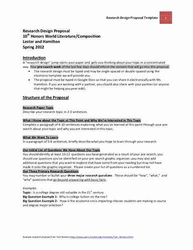 Research Paper Proposal Template Luxury Research Paper Proposal Template source