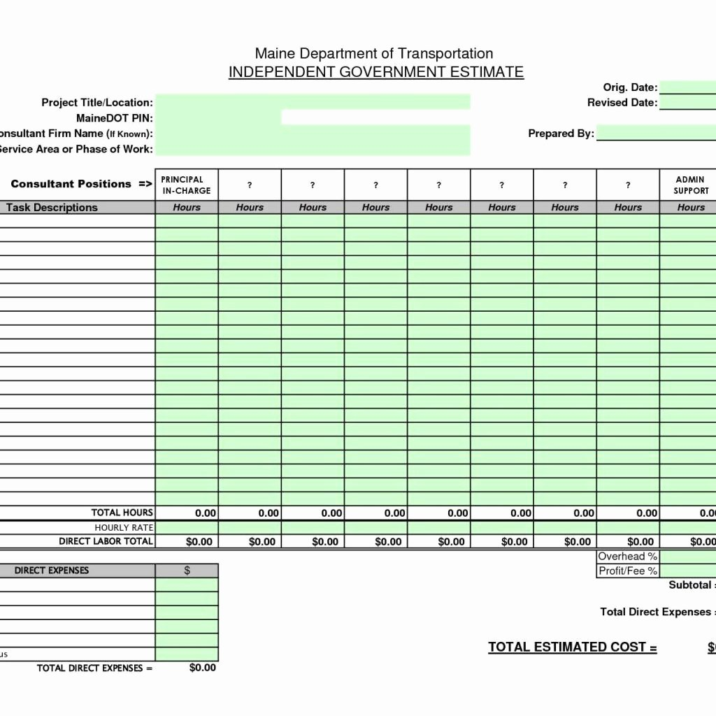 Residential Construction Budget Template Excel Fresh Residential Construction Bud Template Excel and