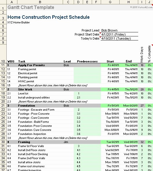 Residential Construction Schedule Template Beautiful New Home Construction Schedule Template Invitation Template