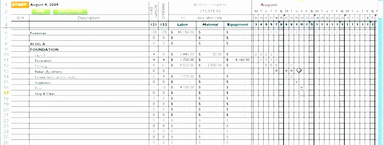 Residential Construction Schedule Template Excel Best Of Building Construction Schedule Template – Miyamufo
