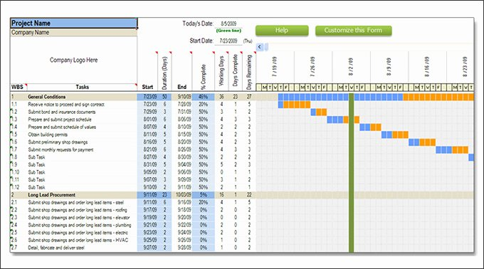 Residential Construction Schedule Template Excel Best Of Construction Schedule Templates 13 Free Word Excel