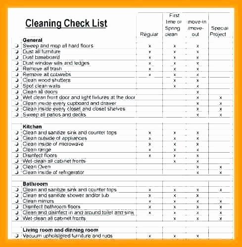 Restaurant Cleaning Checklist Template Beautiful Cleaning Checklist for Apartment Latest Bestapartment 2018