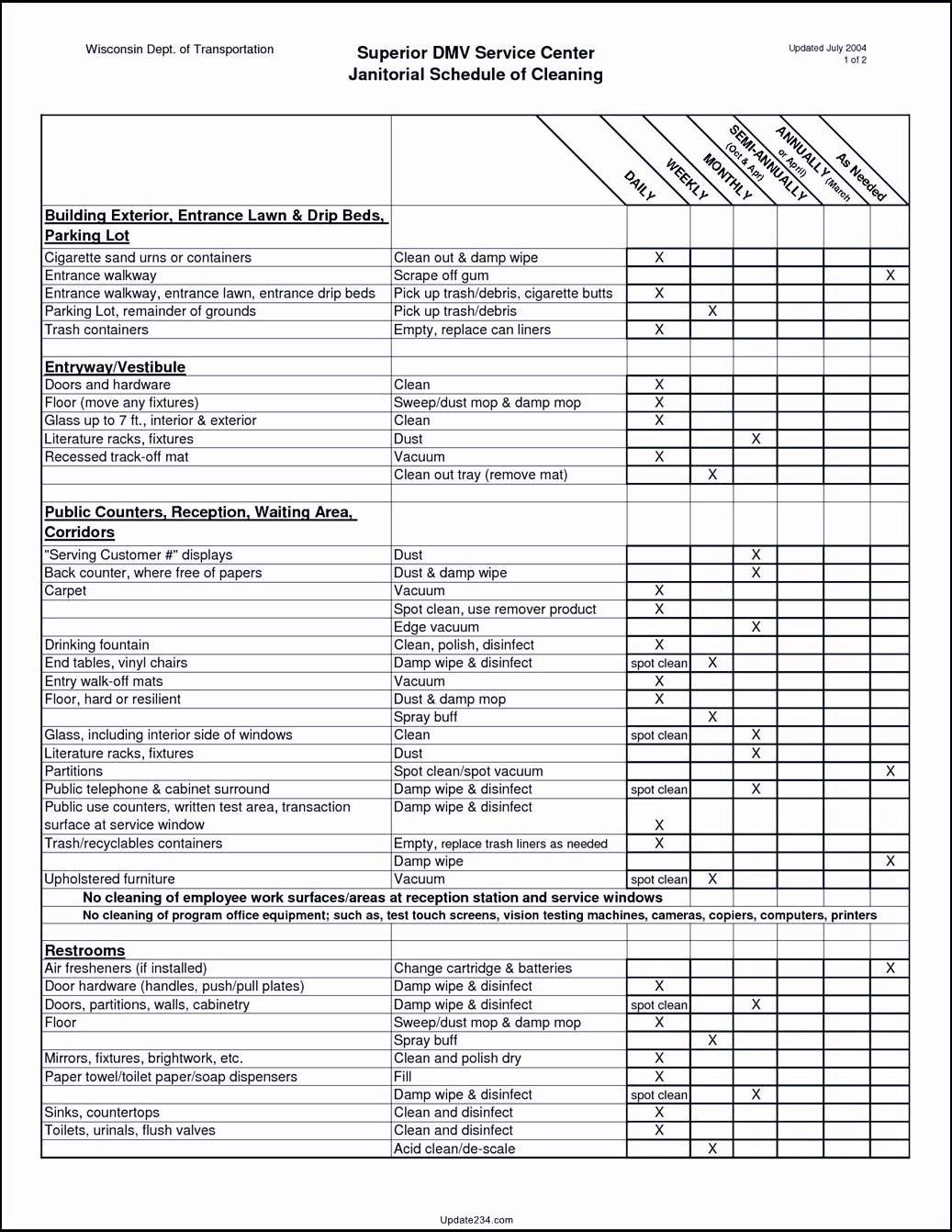 Restaurant Cleaning Checklist Template Inspirational Restaurant Cleaning Checklist Template