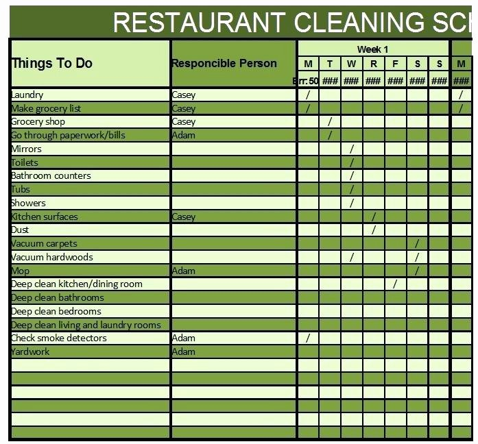 Restaurant Cleaning Schedule Template Unique Kitchen Cleaning Rota Template – Mysticskingdomfo