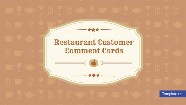 Restaurant Comment Card Template Beautiful 9 Restaurant Customer Ment Card Templates & Designs