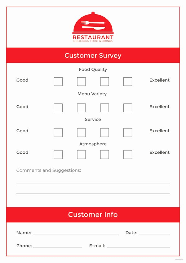 Restaurant Comment Card Template Best Of Ment Card Template – 15 Free Printable Sample Example