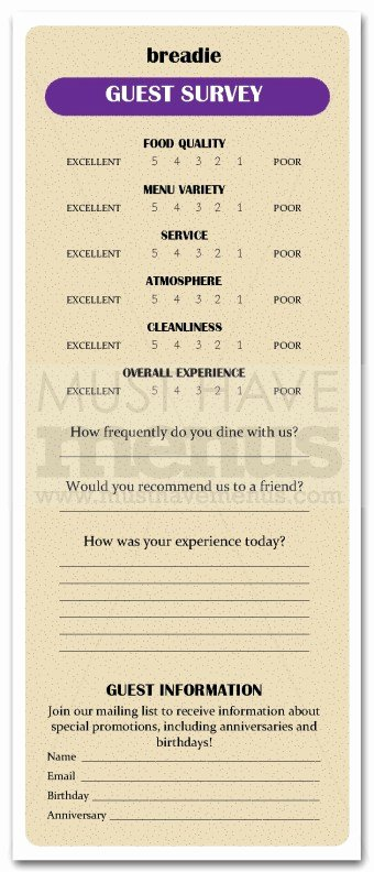 Restaurant Comment Card Template Inspirational Restaurant Ments Card Template Restaurant Ment Card