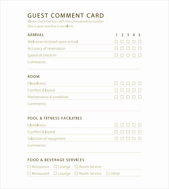 Restaurant Comment Card Template Lovely 11 Ment Cards Pdf Word Adobe Portable Documents