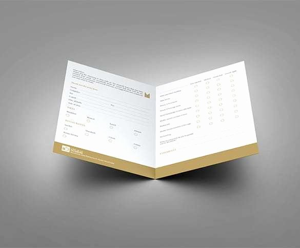 Restaurant Comment Card Template Unique 5 Restaurant Ment Card Templates Free Sample Templates