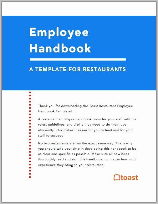 Restaurant Employee Handbook Template Free Elegant Restaurant Employee Handbook Template Free Download