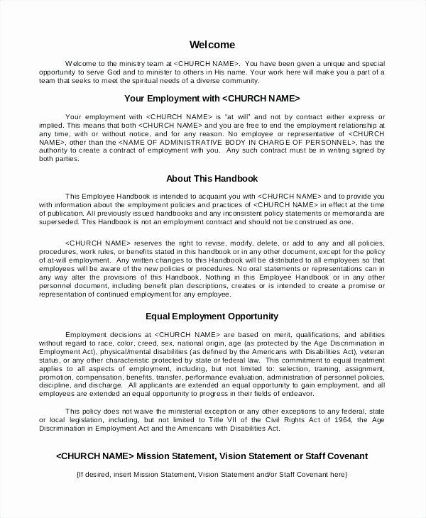Restaurant Employee Handbook Template Free Lovely Restaurant Employee Training Manual Sample Page West
