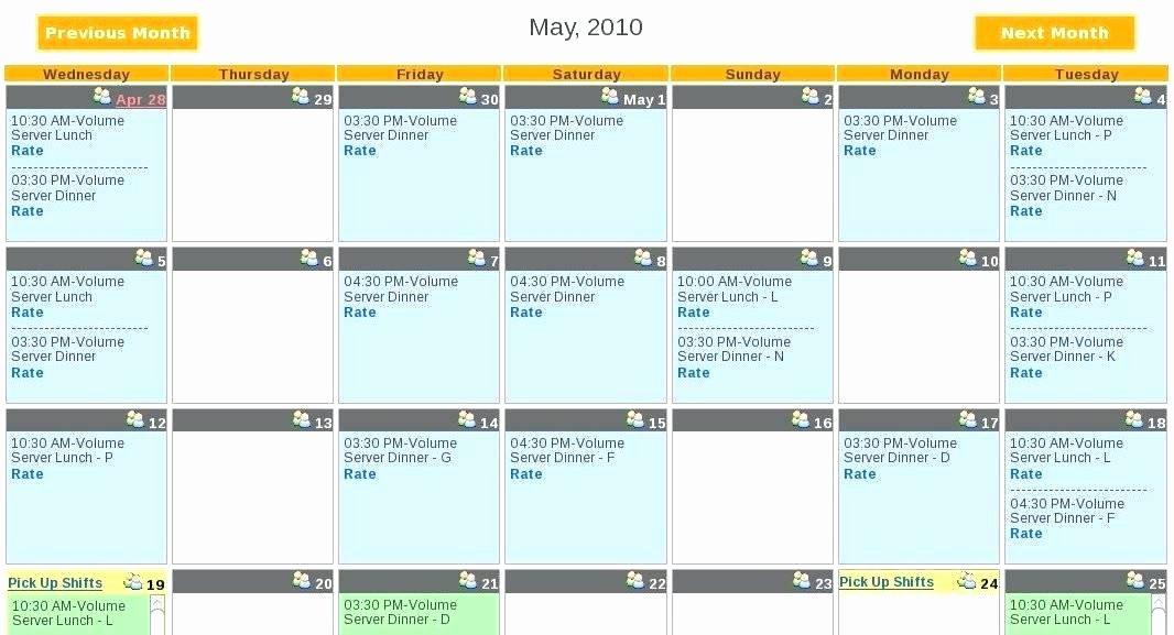 Restaurant Employee Schedule Template Fresh Excel Employee Schedule Co Blank Restaurant Template Free