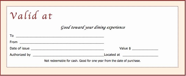 Restaurant Gift Certificate Template Beautiful Download Restaurant Gift Certificate Templates Wikidownload