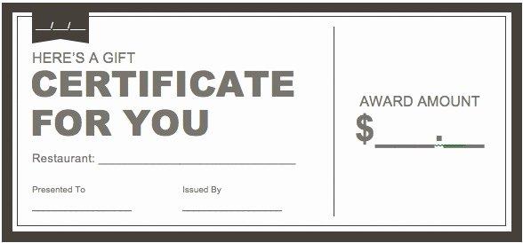 Restaurant Gift Certificate Template Best Of Certificate Downloads Free