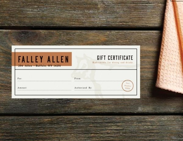 Restaurant Gift Certificate Template Elegant 16 Free Gift Certificates Psd Vector Eps Download