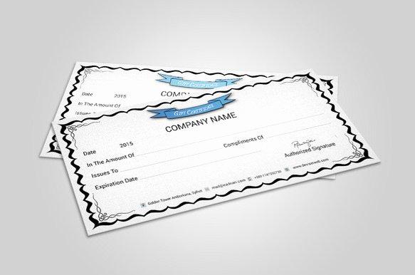 Restaurant Gift Certificate Template Elegant 20 Restaurant Gift Certificate Templates – Free Sample