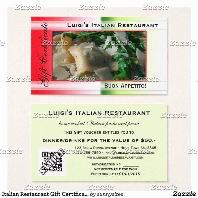 Restaurant Gift Certificate Template Inspirational 14 Restaurant Gift Certificates