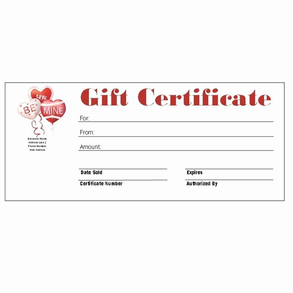 Restaurant Gift Certificate Template Inspirational Restaurant Gift Certificate Template