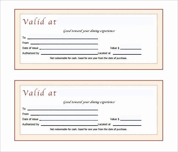 Restaurant Gift Certificate Template Lovely Gift Certificate Template 42 Examples In Pdf Word In