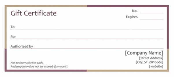 Restaurant Gift Certificate Template Luxury Restaurant Gift Certificate Template Word Gift Ftempo
