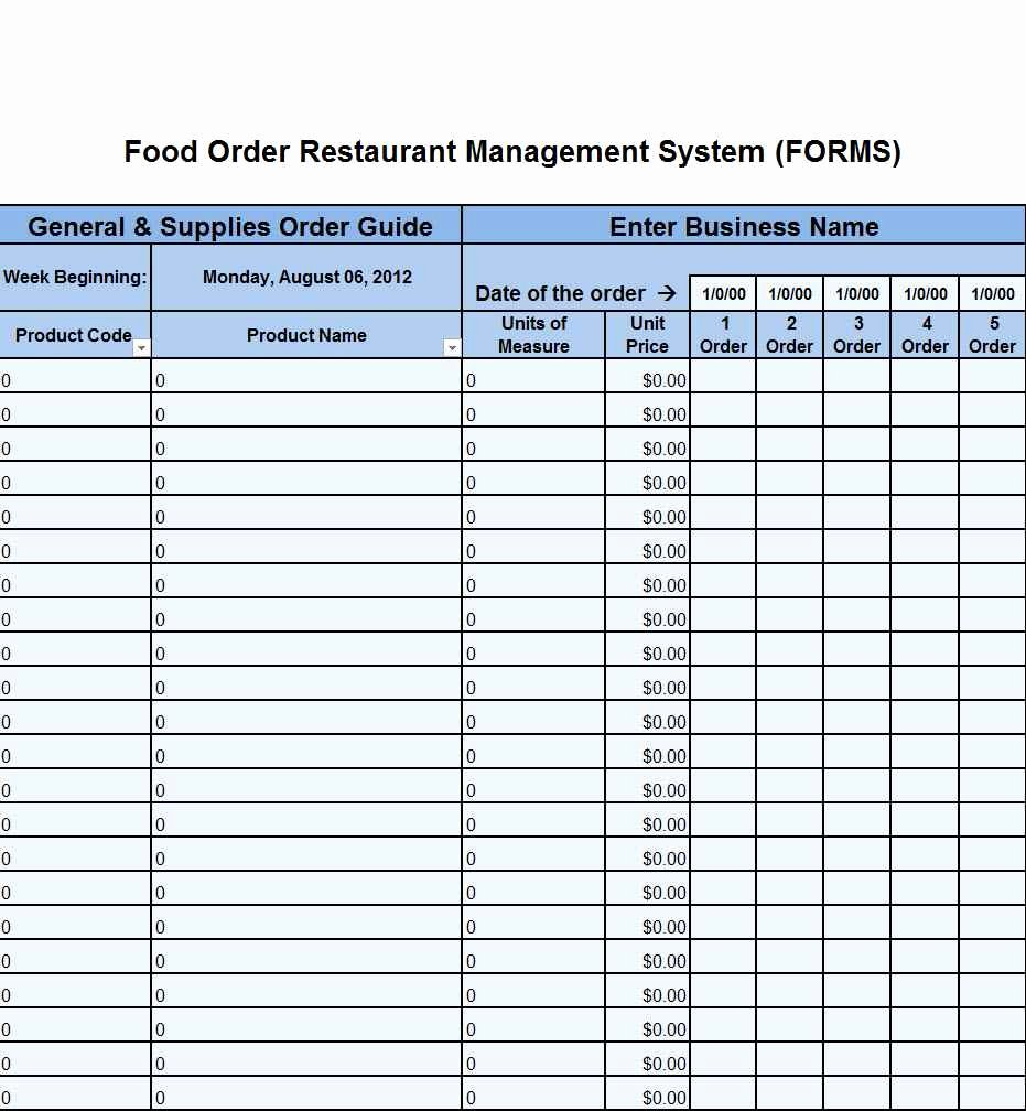 Restaurant Inventory Sheet Template Awesome Restaurant Inventory Spreadsheet Template Spreadsheet