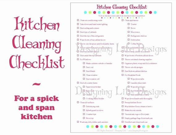 Restaurant Kitchen Cleaning Checklist Template Lovely Kitchen Cleaning Checklist Pdf Printable Home Management
