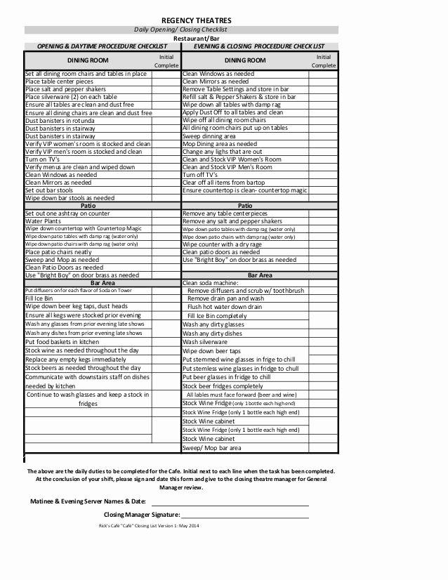 Restaurant Kitchen Cleaning Checklist Template Luxury Kitchen Cleaning Checklist Template